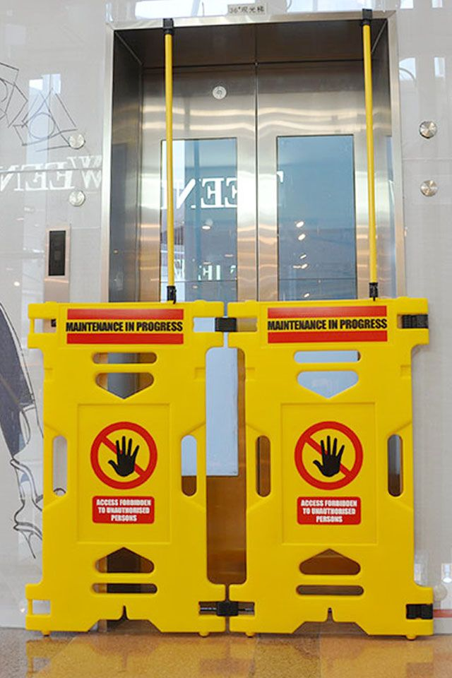 elevator two in one barrier