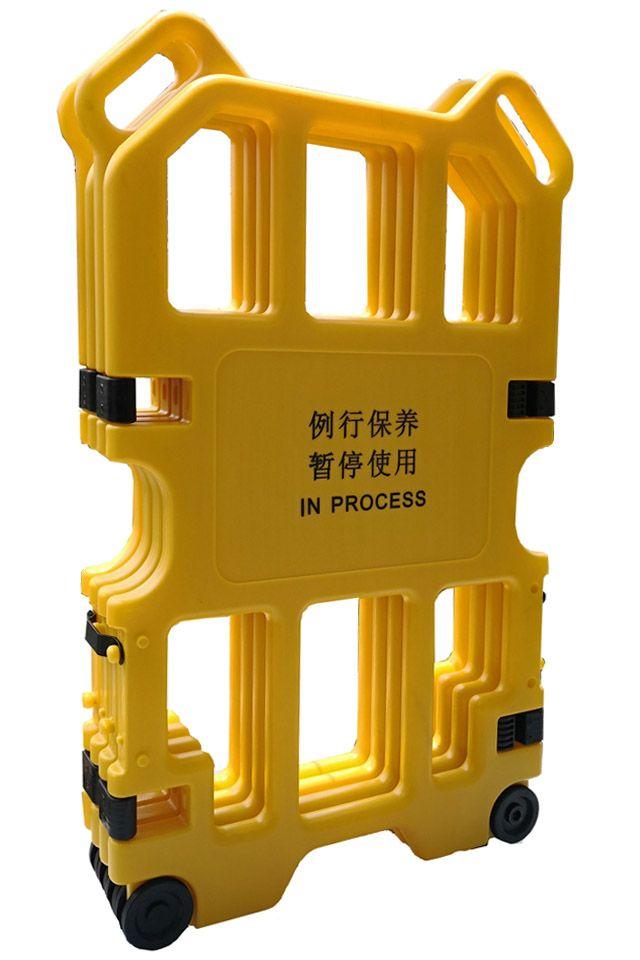 elevator foldable safety barrier